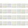 Miyuki Tila Beads 5X5mm 2 Hole Silk White Transparent Aurora Borealis